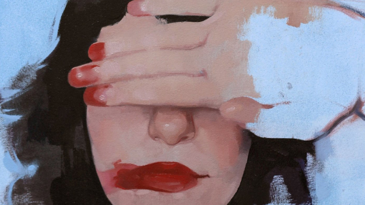 """Self Portrait"" (detail) by Felicia Forte"